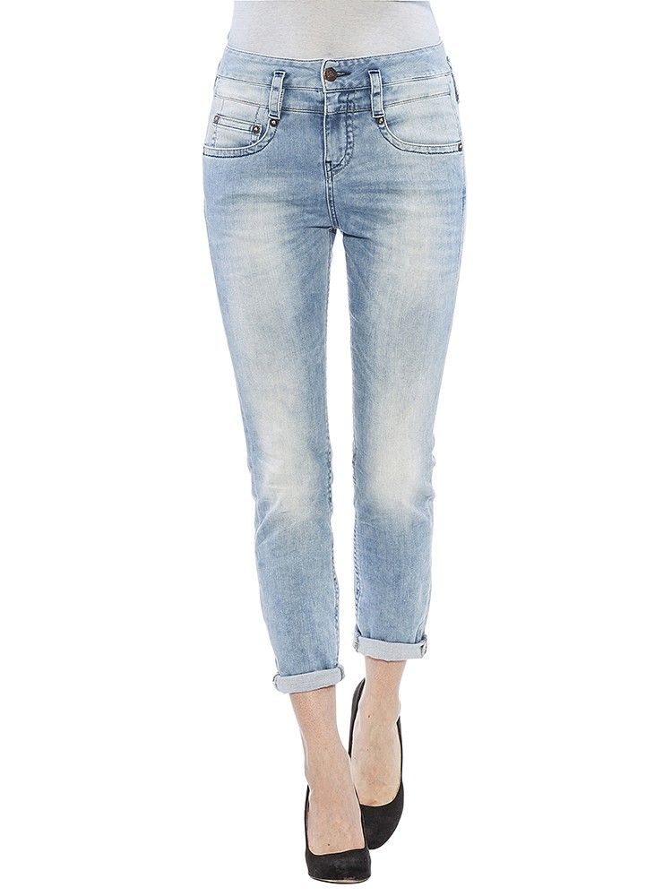Herrlicher Pitch Mom Denim Stretch Jeans hellblau vorne