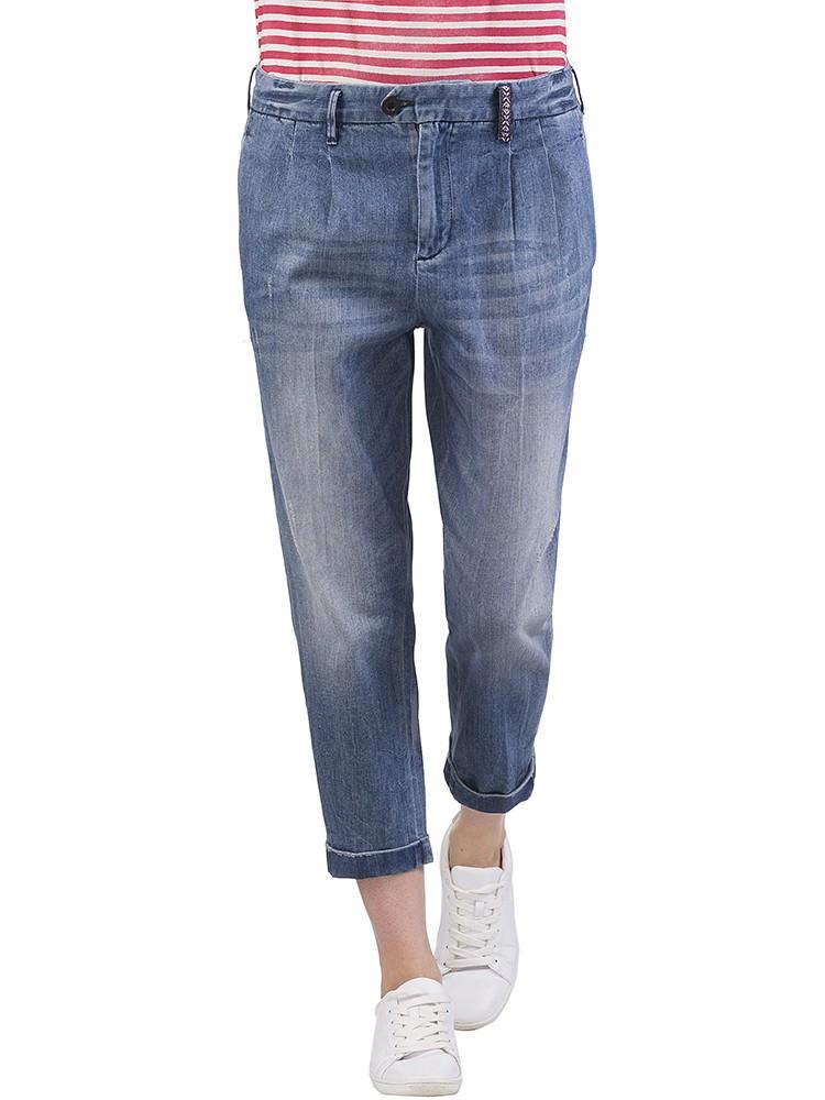 Herrlicher Tarya Denim Stretch Jeans blau vorne