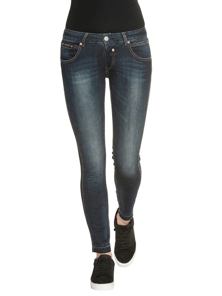 Touch Cropped Denim Powerstretch Jeans dunkelblau