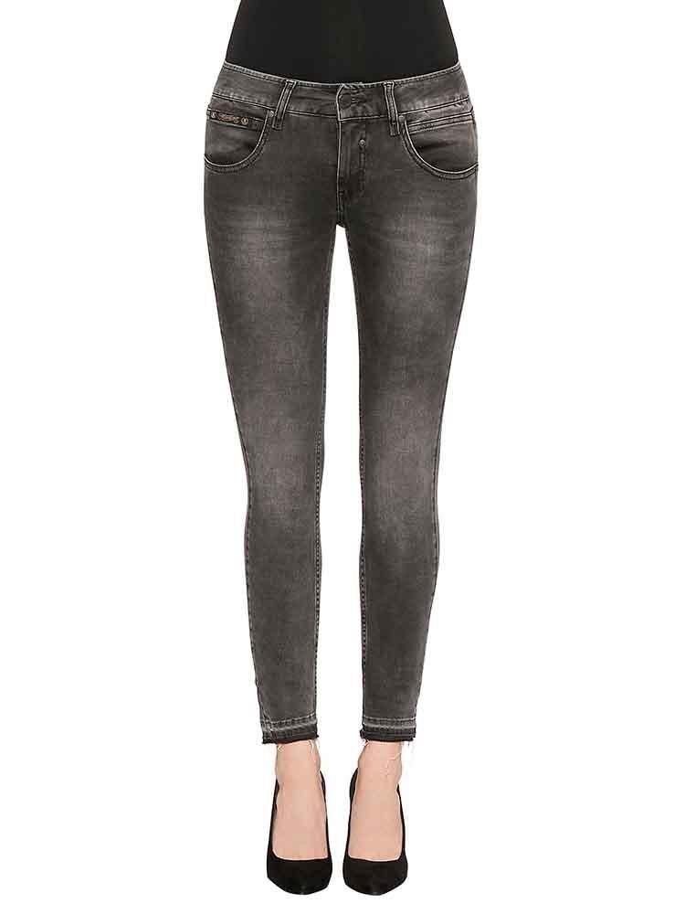 Herrlicher Touch Cropped Denim Black Stretch Jeans schwarz
