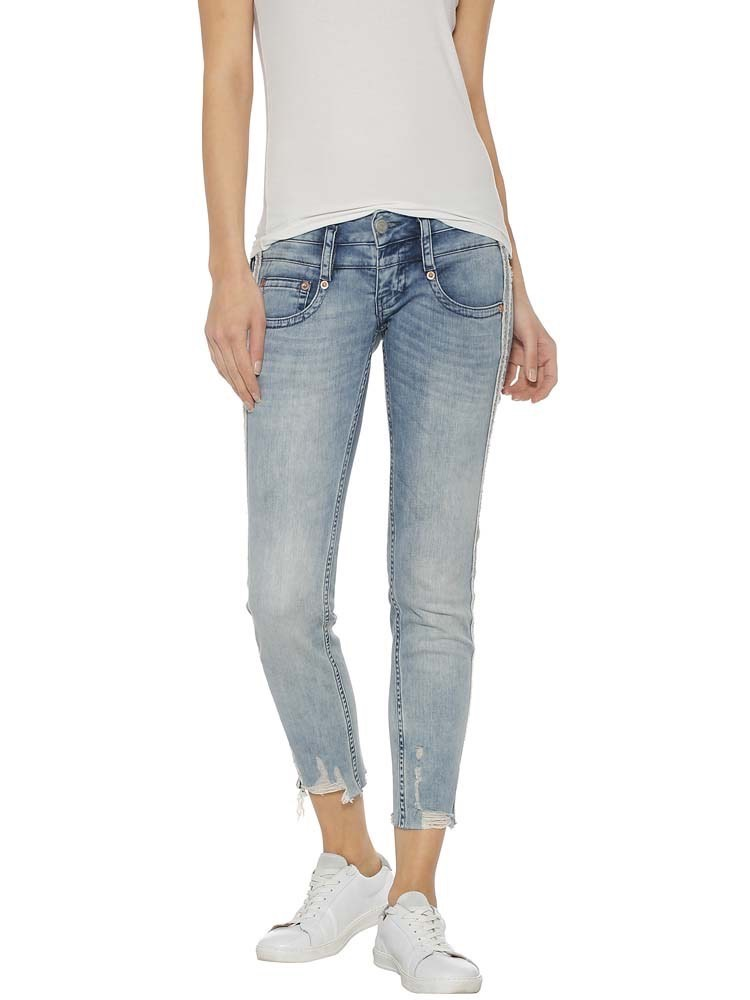 Herrlicher Pitch Slim Cropped Stretch Jeans