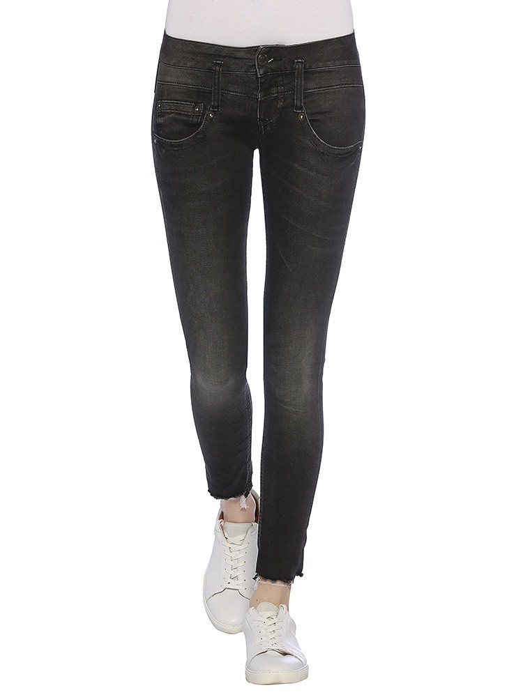Herrlicher Pitch Slim Cropped Denim Black Stretch Jeans