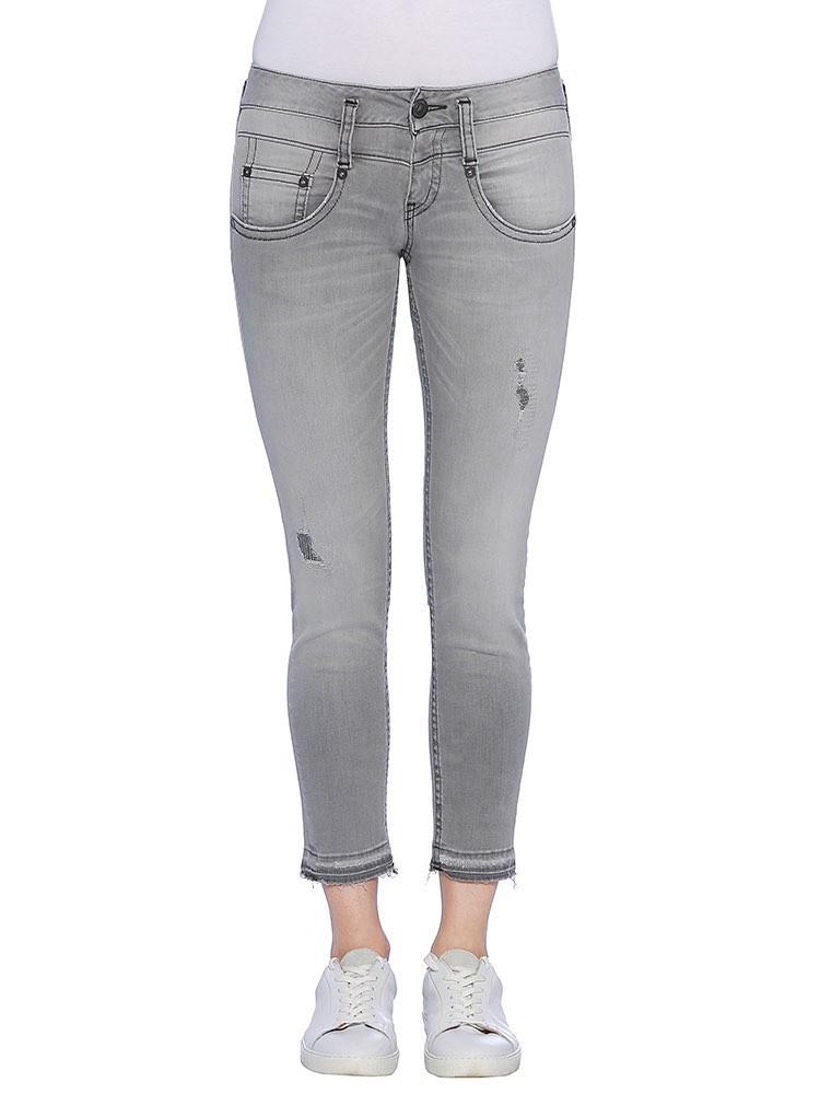 Herrlicher Pitch Slim Cropped Black Stretch Jeans