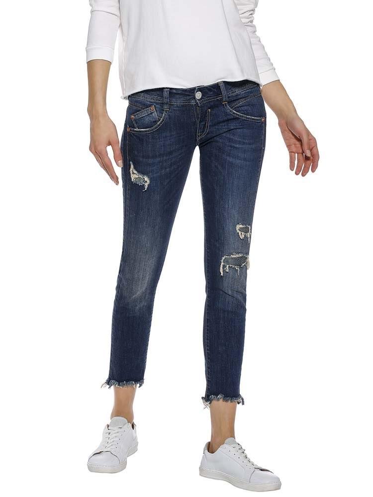 Herrlicher Gila Slim Cropped Stretch Jeans