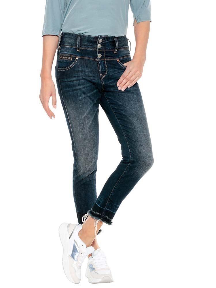 Herrlicher Raya Boy Cropped Jeans mit Cut-Off Saum