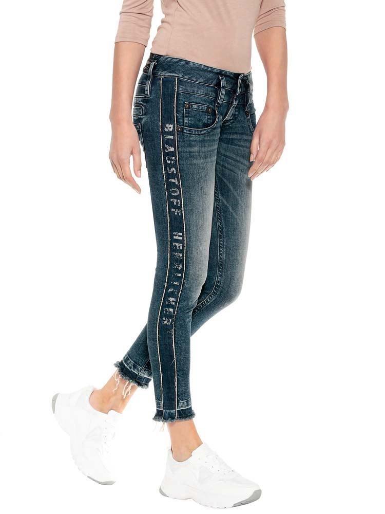 Herrlicher Pitch Slim Jeans mit seitlichem Logoprint