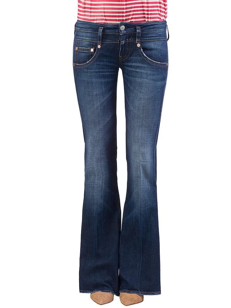 Herrlicher Pitch Flare Kashmir Touch Jeans dunkelblau vorne