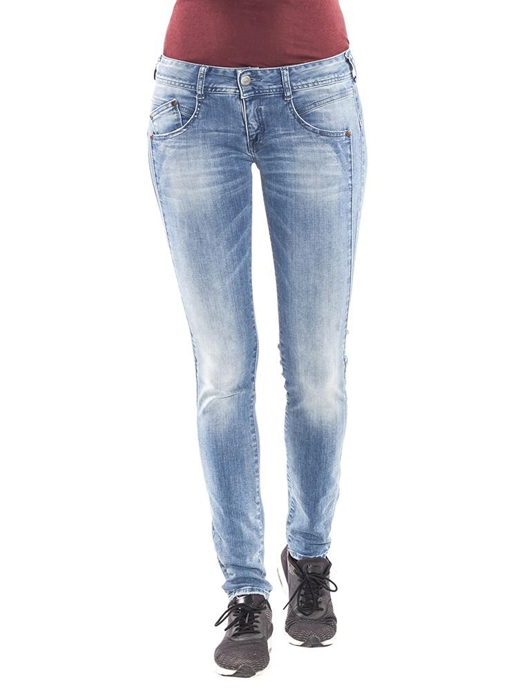 Herrlicher Gila Jeans blau mittelhohe Leibhöhe vorne