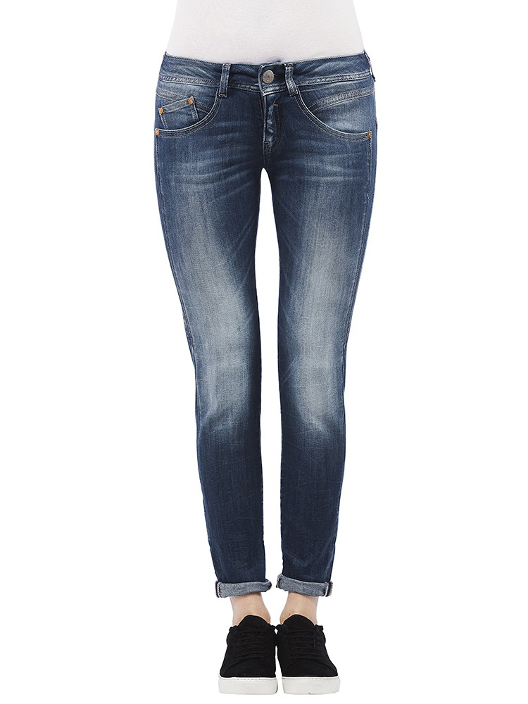 Gila Slim Powerstretch Jeans dunkelblau vorne