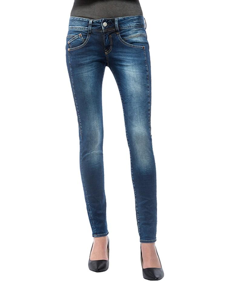 Herrlicher Gila Slim Powerstretch Jeans dunkelblau vorne