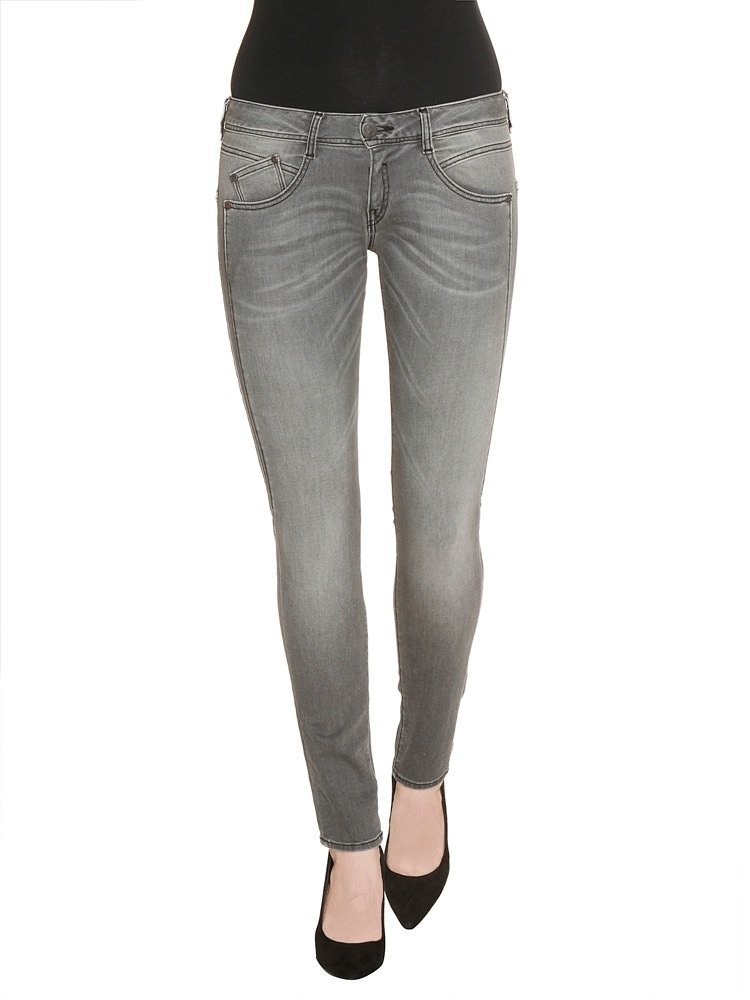 Herrlicher Gila Slim Denim Black Stretch Jeans grau