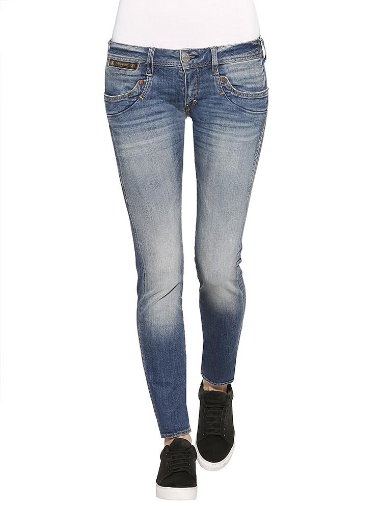 Herrlicher Piper Slim Denim Comfort + Jeans mittelblau