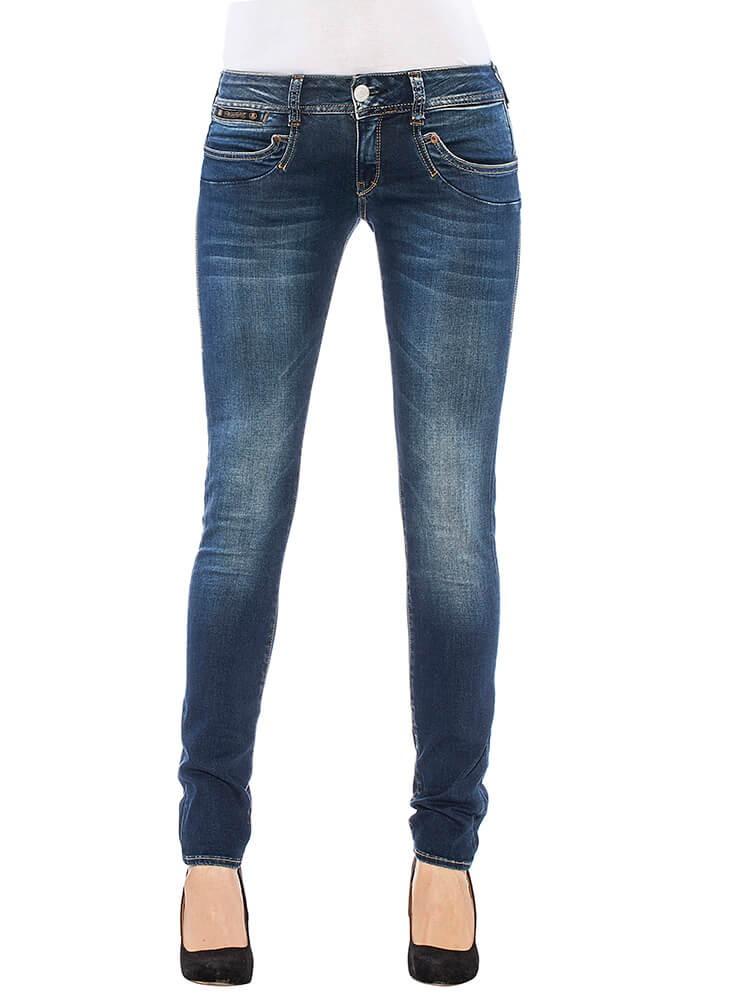 Herrlicher Piper Slim Denim Powerstretch Jeans mittelblau vorne