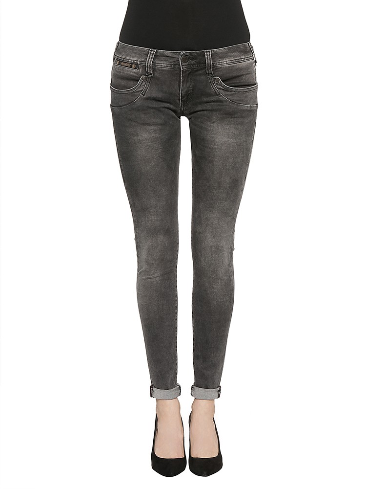 Herrlicher Piper Slim Denim Black Stretch Jeans dunkelgrau