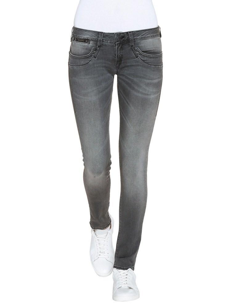 Herrlicher Piper Slim Denim Black Stretch Jeans grau