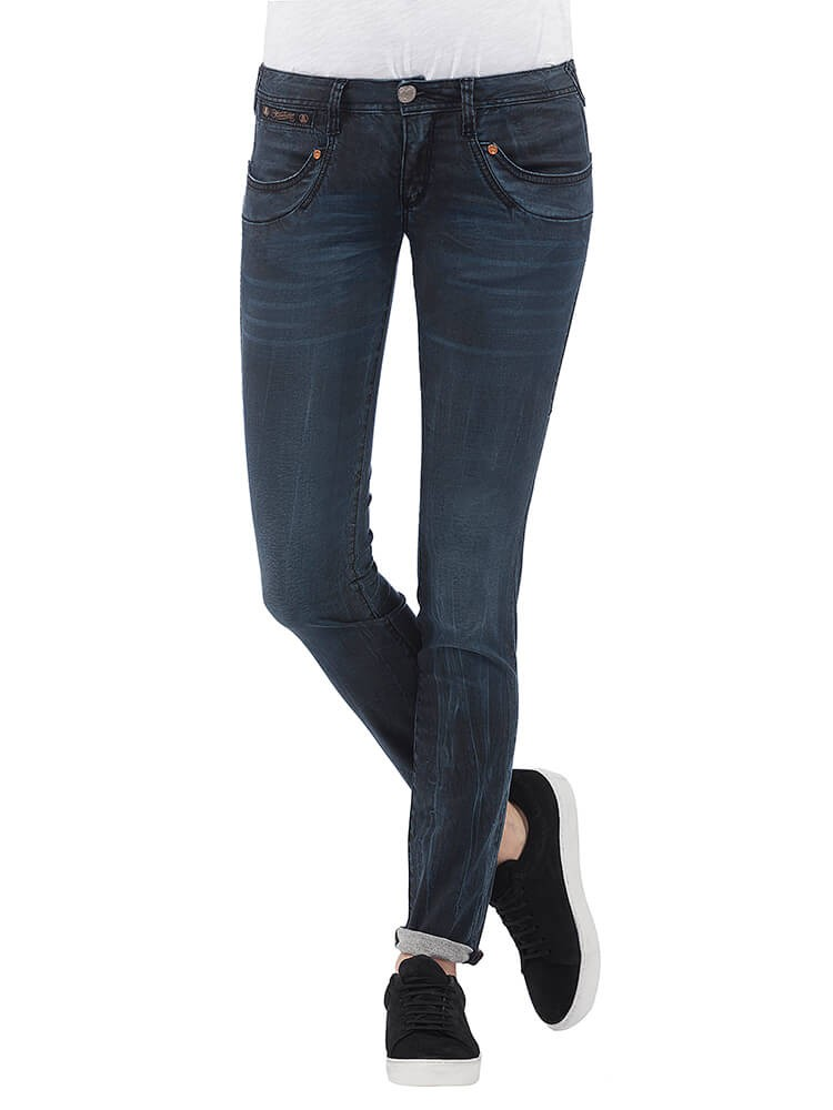 Herrlicher Piper Slim Denim Black Stretch Jeans dunkelblau vorne