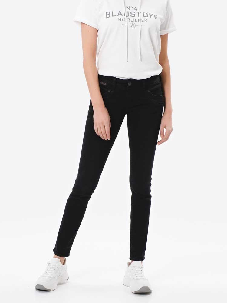 Herrlicher Piper Slim Black Stretch Jeans