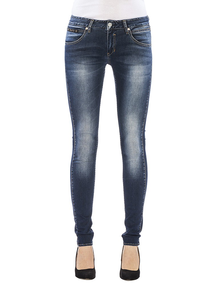Touch Slim Denim Powerstretch Jeans dunkelblau vorne