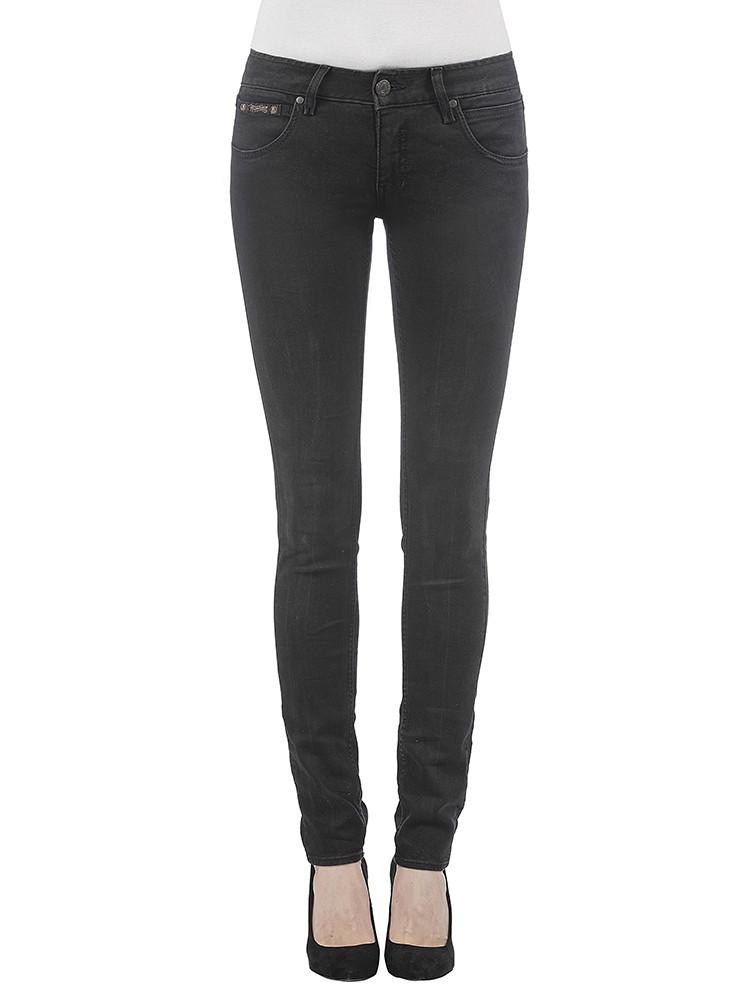 Herrlicher Touch Slim Denim Black Stretch Jeans schwarz vorne