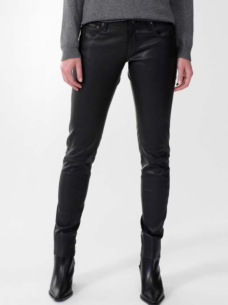 Touch Slim Hose aus Leder