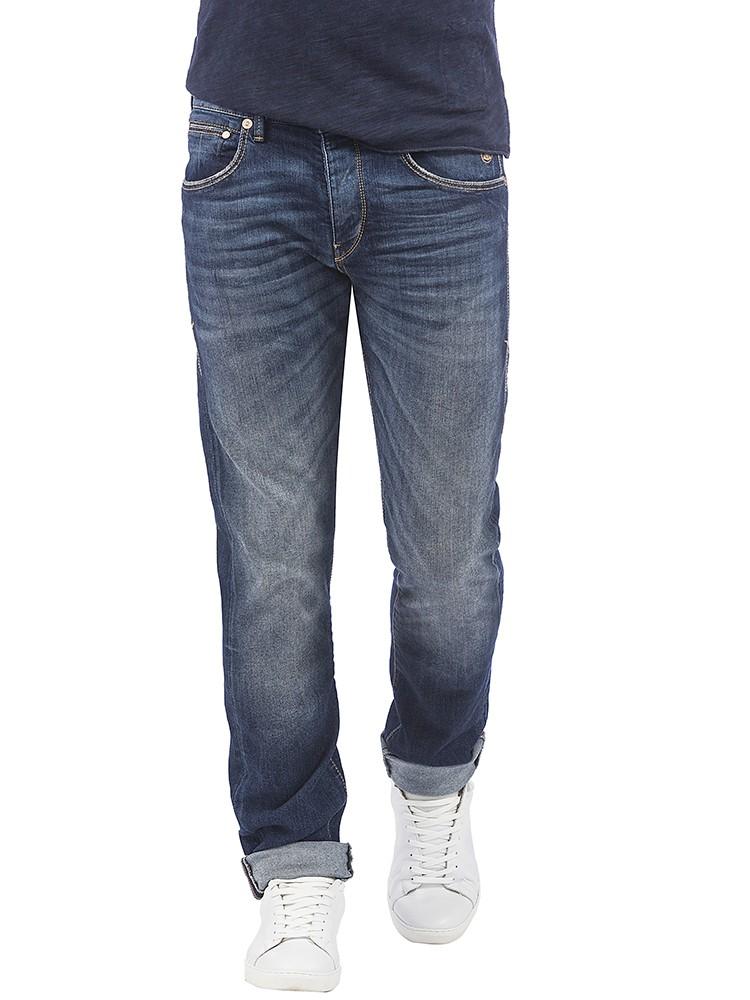 Herrlicher Tyler Tapered Denim Comfort Plus Jeans dunkelblau vorne