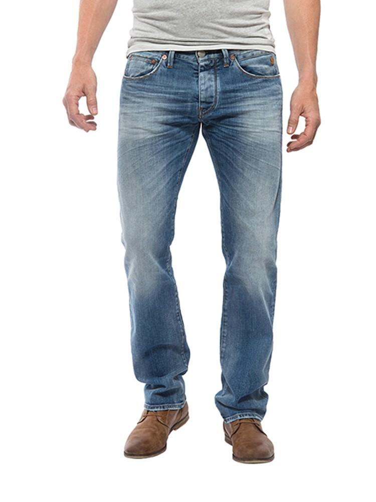Herrlicher Tyler Denim Stretch Jeans hellblau vorne