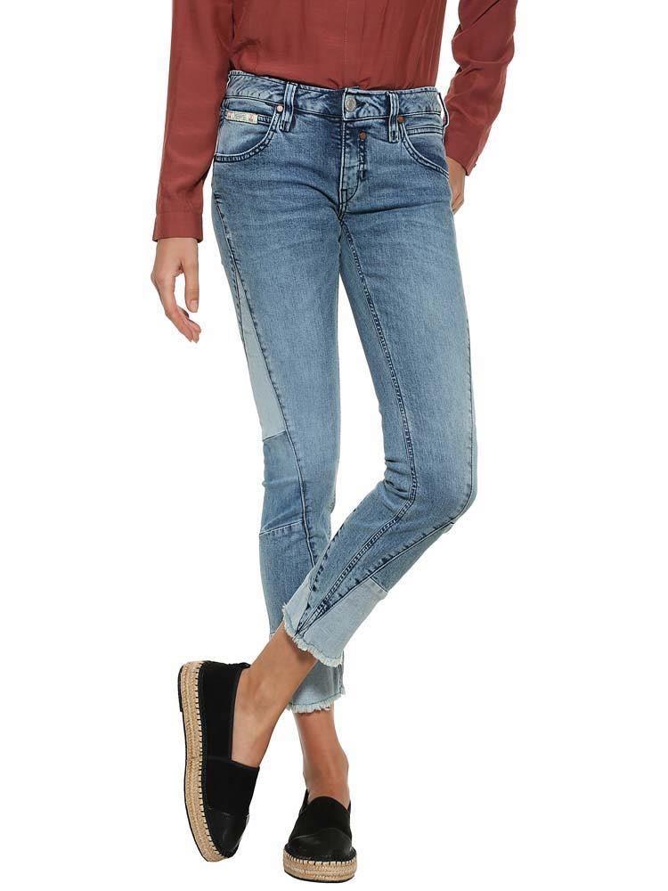 Herrlicher Touch Cropped Jeans im Patch-Design