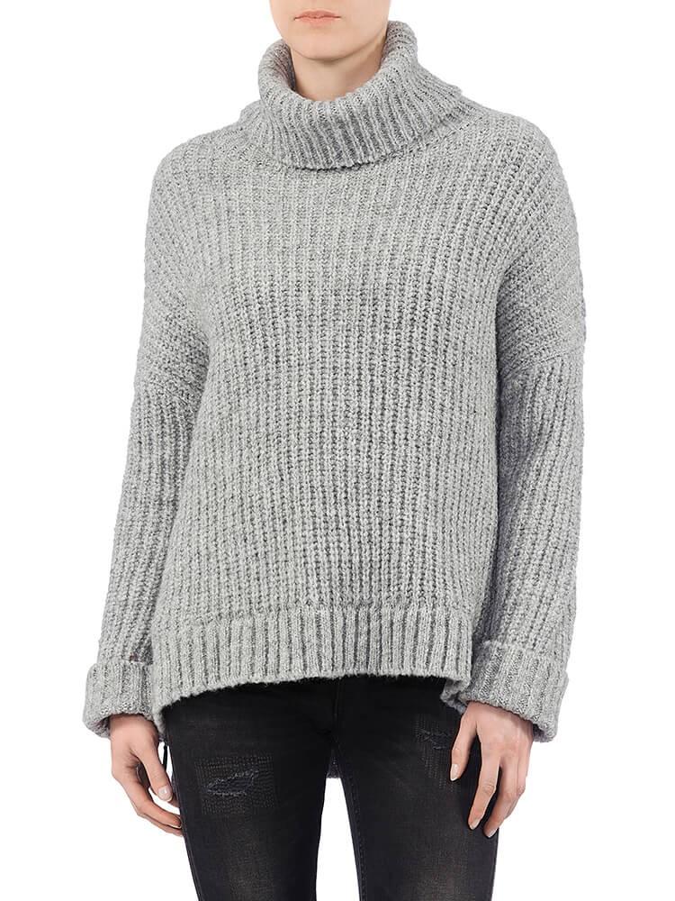 Herrlicher Anika Wool Mix Pullover hellgrau vorne