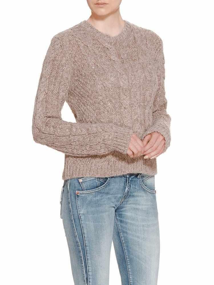 Herrlicher Juliana Wool Mix Pullover rosa