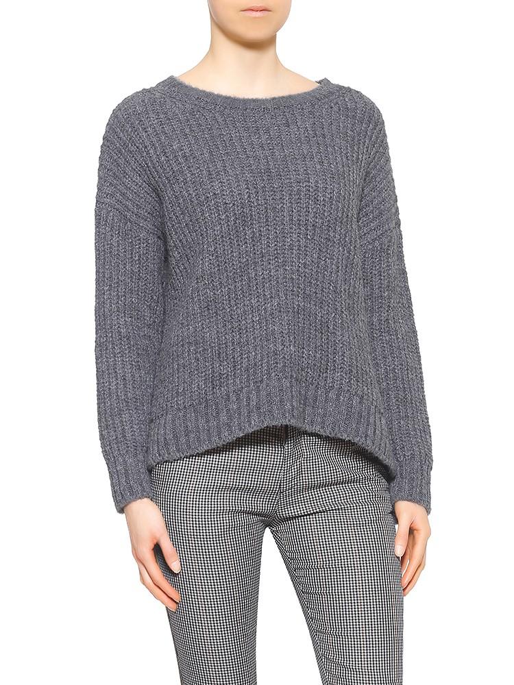 Herrlicher Nellina Wool-MIx-Pullover grau meliert