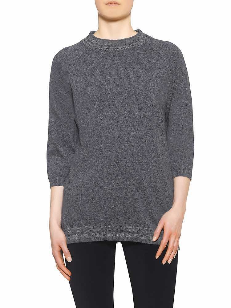 Herrlicher Sunja Woll-MIx-Pullover blau