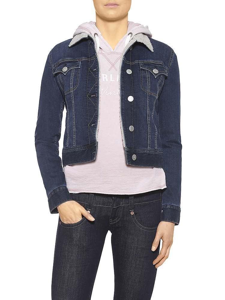 Herrlicher Joplin Powerstretch Jeansjacke dunkelblau vorne