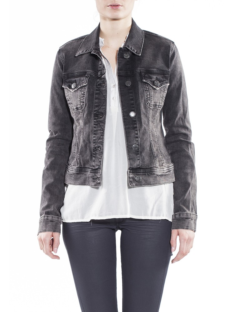 Herrlicher Joplin Denim Black Stretch Jeansjacke