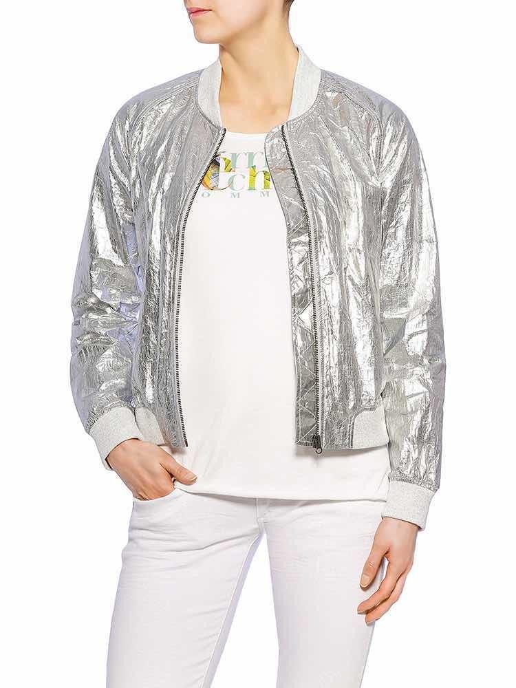 Herrlicher Caline Metallic Jacke, Modelbild vorne