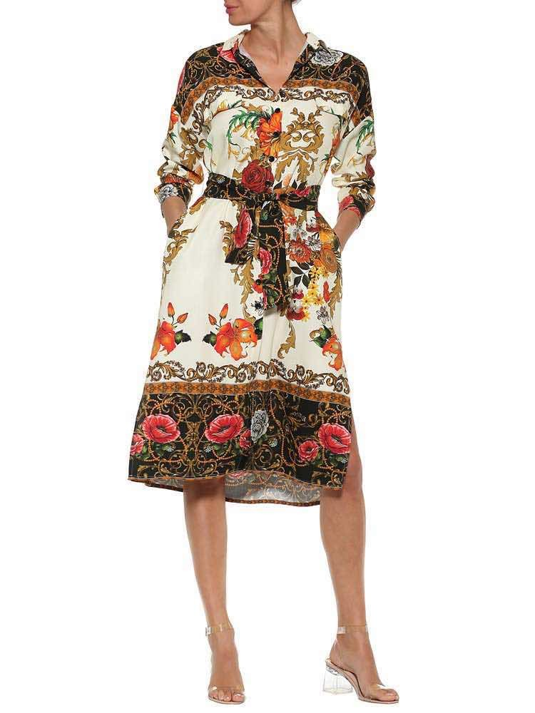 Herrlicher Leamara Blusenkleid mit Blumenmuster