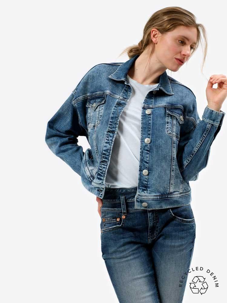Herrlicher Big J Jeansjacke aus recyceltem Denim