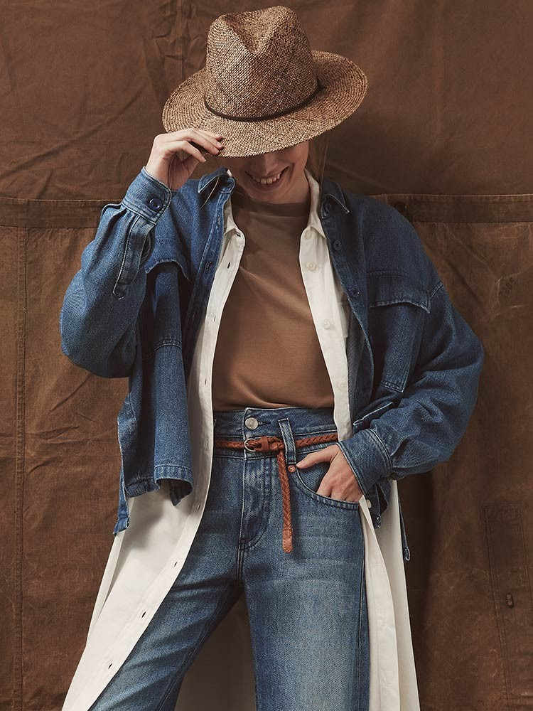Herrlicher Lash Light Jeanshemd für Damen