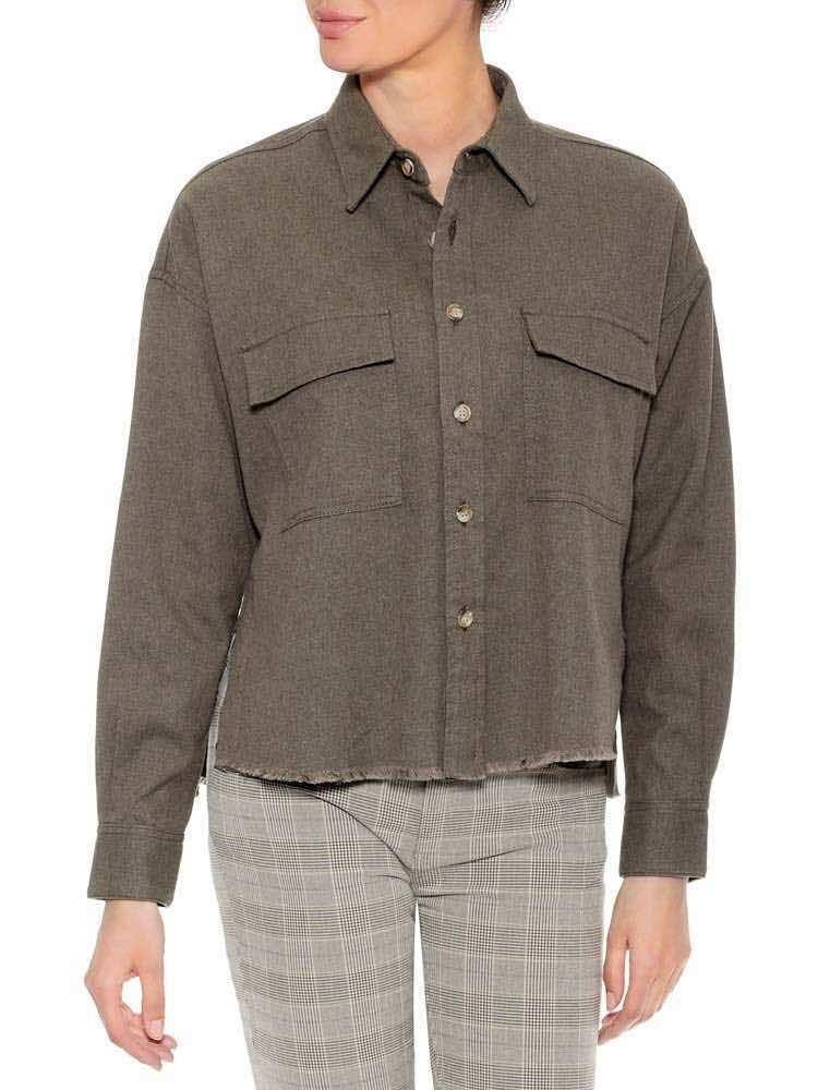 Herrlicher Lash Baumwollhemd mit Hornknöpfen