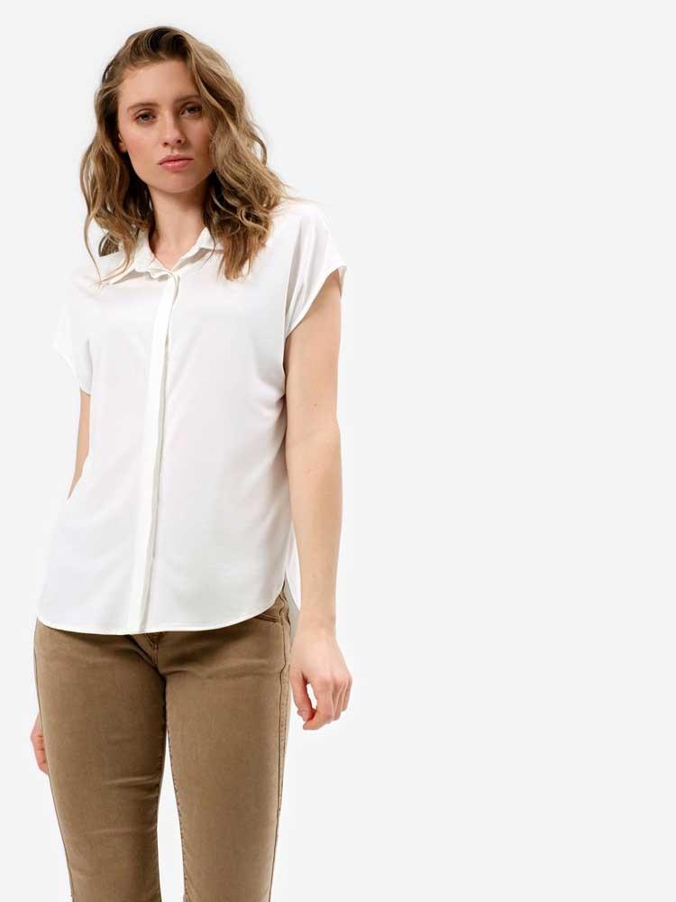 Herrlicher Svania Hemdbluse mit kurzen Ärmeln