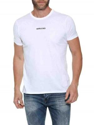 Herrlicher Base T-Shirt mit Logo-Statement aus Supima®-Baumwolle