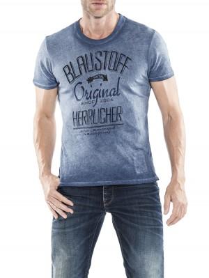 Herrlicher Base Jersey T-Shirt blau vorne