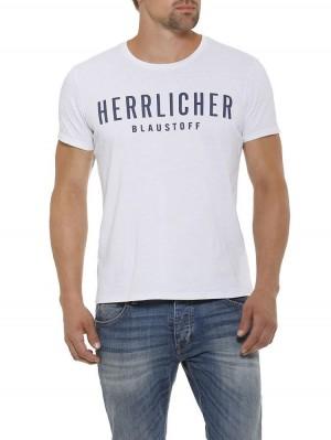 Herrlicher Base Single Jersey T-Shirt weiß vorne