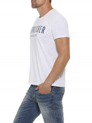 Herrlicher  Base Single Jersey T-Shirt mit Statement Print