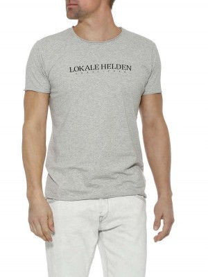 Herrlicher Base T-Shirt mit Statement Print
