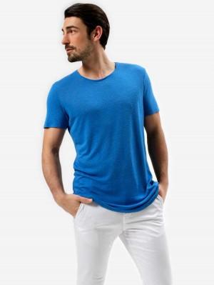 Herrlicher Base T-Shirt aus Leinenmix