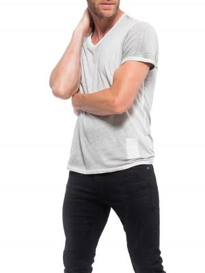 Herrlicher V-Neck Jersey T-Shirt