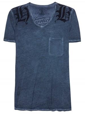 Herrlicher Robby Jersey T-Shirt dunkelblau