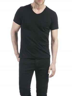 Herrlicher Robby Jersey T-Shirt schwarz vorne