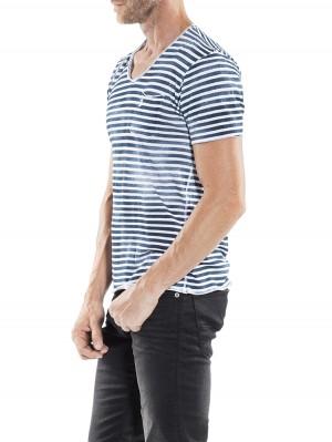 Herrlicher Robby Jersey Striped T-Shirt