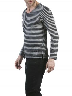 Herrlicher Runner Jersey Striped Longsleeve